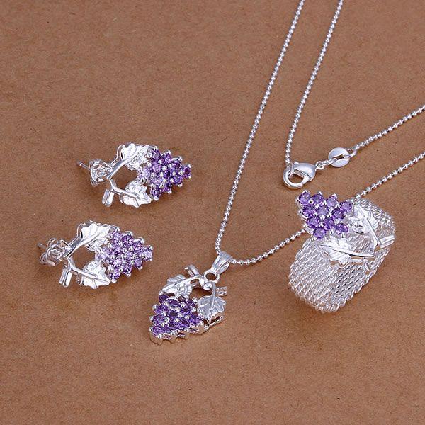 s136 925 selling silver jewelry set fashion jewelry