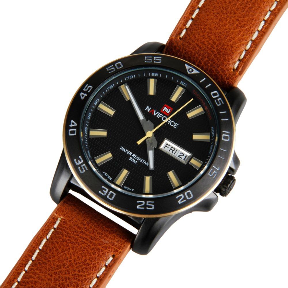 Watches Men NAVIFORCE luxury brand Full Leather Quartz Clock Watch Army Military Sport watch relogio masculino(China (Mainland))