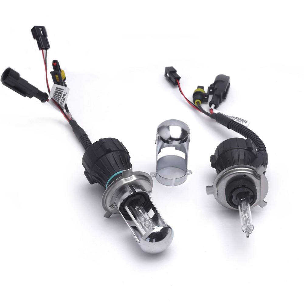 Pair Bi Xenon H4 35W 12V DC HID Car Headlight Replacement Bulbs H4-3 BiXenon Hi/Lo Beam Lamp 4300 6000 8000K