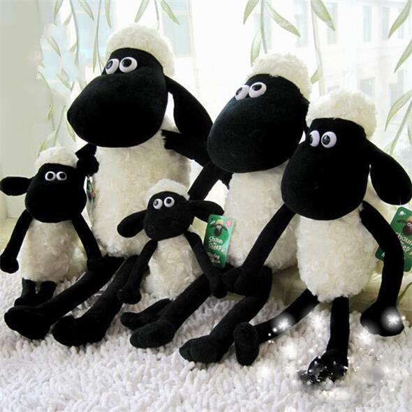 25cm Hot Cute Shaun The Sheep Lamb Plush Toys For Girl Children's Baby Birthday Holiday Gift Send Kids Lovely Soft Toy(China (Mainland))