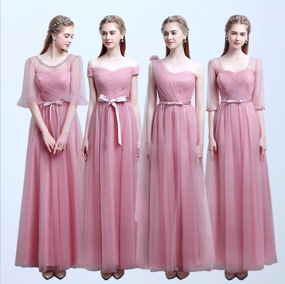 15% Off Customize Multi Model Neck Halter Sleeveless Vestidos Bridesmaid without Train(China (Mainland))