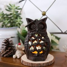 Handmade Zakka Creative vintage cast iron Owl Cafe Candlestick Home Decoration Decorative Wall Candle Holders 7.5*8.5*13.5cm(China (Mainland))