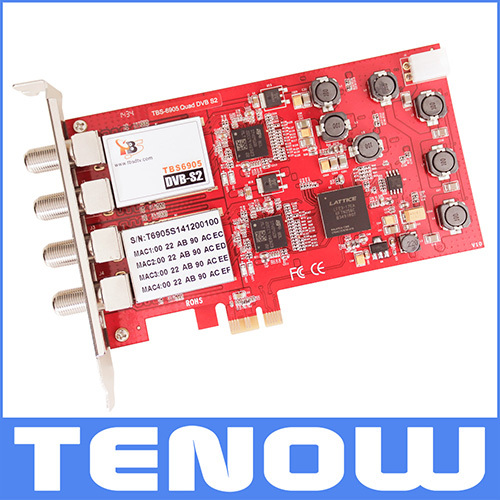 NEW ARRIVAL TBS6905 DVB-S2 Quad Tuner PCIe Card-Watching/recording Multiple Satellite TV Channels on PC Simultaneously(China (Mainland))