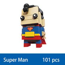 Decool lego Compatível brickheadz modelo blocos de construção de super heróis brinquedos cabeças criança DC Liga Da Justiça Batman Aquaman sets kit(China)