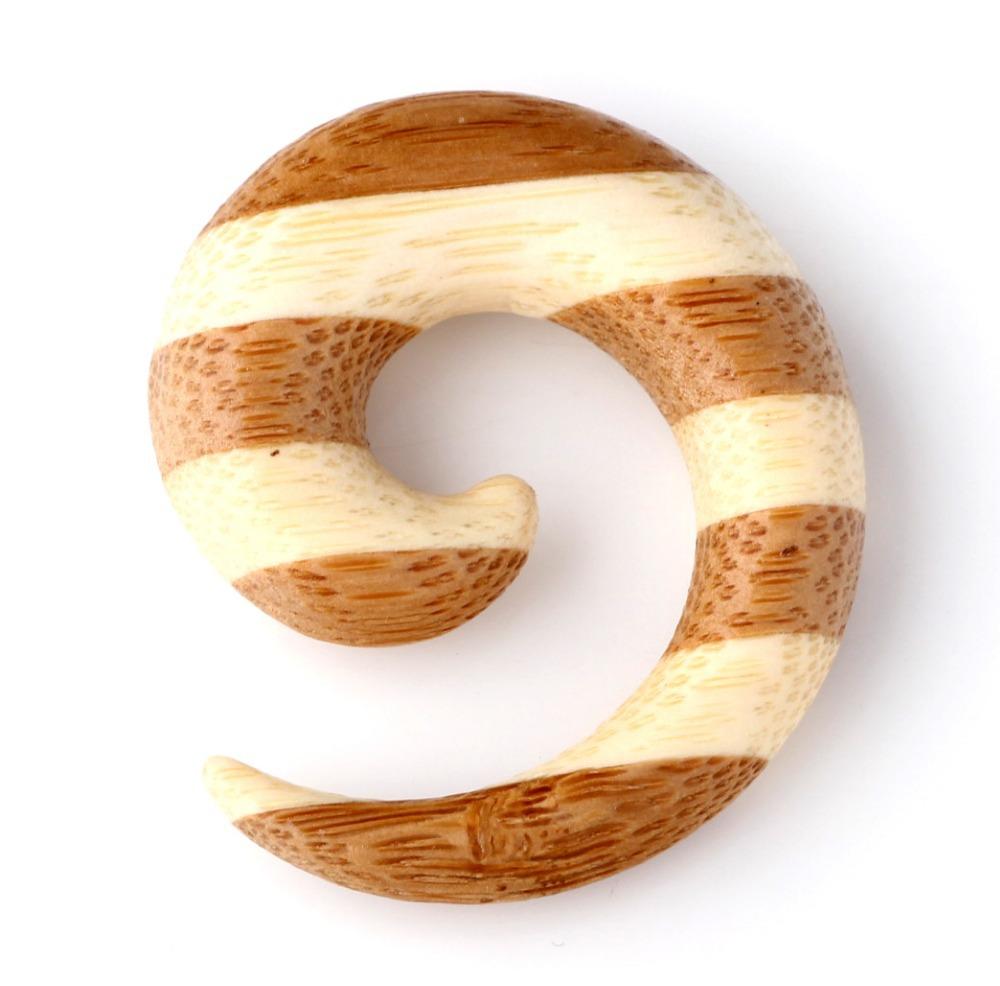 1pair Fashion Snail Organic Sono Wood Ear Plugs Gauge And Tunnels Ear Stretchers Body Piercing Jewelry(China (Mainland))