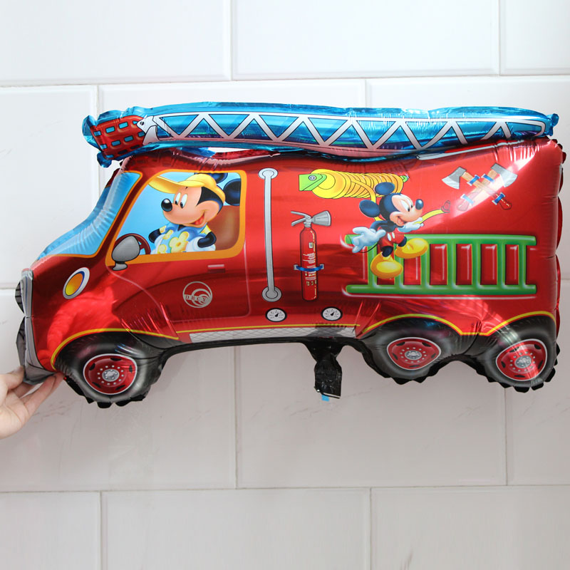 50pcs/lot good quality 50*71cm fire truck foil ballon cartoon shape classic toys for minnie and mickey party helium balloon<br><br>Aliexpress