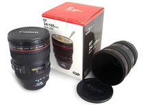 Mug camera SLR Camera Lens Cup 24-105mm 1:1 350ml camera mugs with safety material plastic cup creative gift free shipping.
