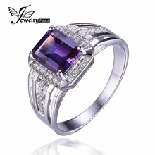 4.7ct High Quality Alexandrite Sapphire Engagement Wedding Ring Solid 925 Sterling Silver Brand New Men's Gem stone Jewelry(China (Mainland))
