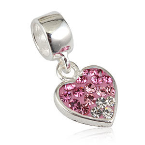 Authentic 100% 925 Sterling Silver Jewelry Crystal Sterling Silver Beads Fit pandora necklaces &bangle  pendants jewelry SS2377