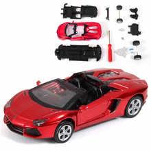 diecast alloy plating  Lamborghili assembled automobile car assembly model DIY toys(China (Mainland))