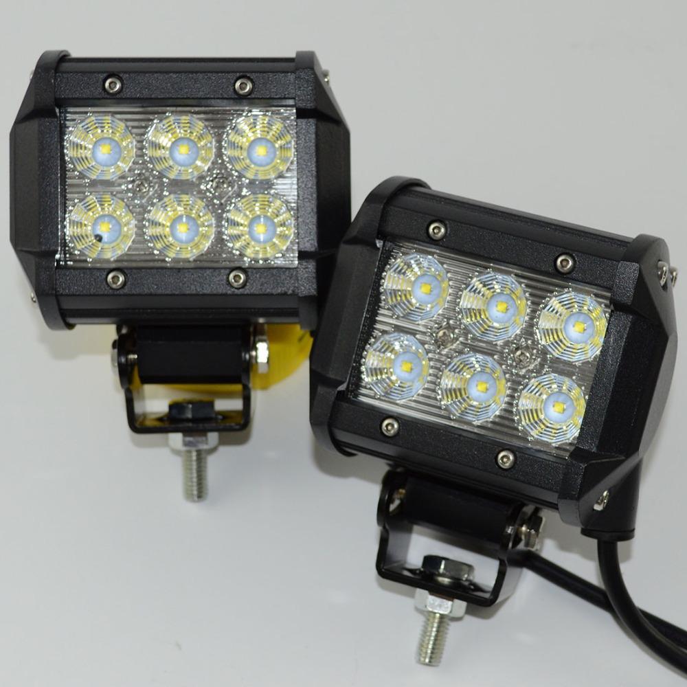 Safego Led Lights 4 Inch 18w Work Lite : Pcs led bar offroad w work light inch cree