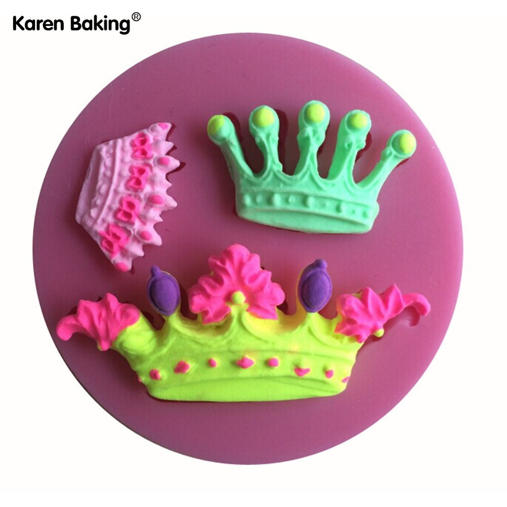 Imperial Crown Shaped 3D Silicone Cake Fondant Mold, Cake Decoration Tools, Soap, Candle Moulds C150(China (Mainland))