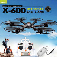Free Shipping! Black MJX X600 2.4G 6 Axis 3D Roll RC Quadcopter Drone Hexacopter Wifi C4005 Cam