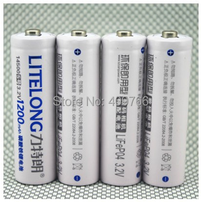 40PCS/LOT High Capacity LITELONG AA 1200mah 14500 3.2v lifepo4 Rechargeable Battery Consumer Battery,4pcs/card<br><br>Aliexpress