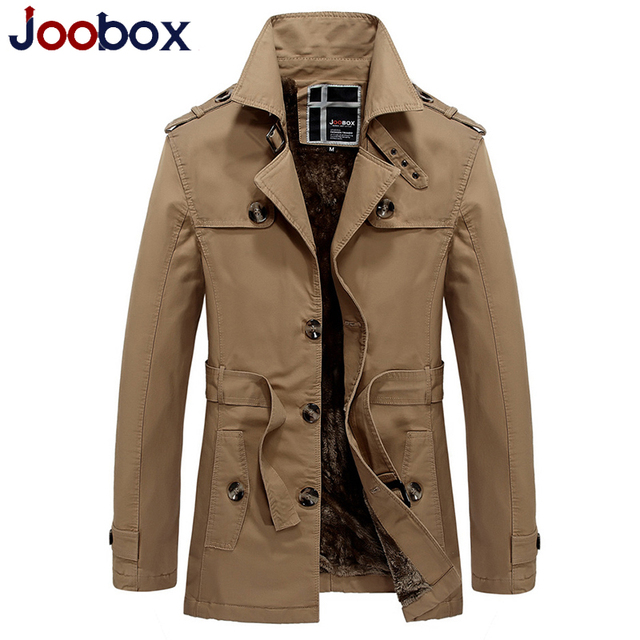 JOOBOX 2016 мужской Моды пальто, толстых мужчин пальто, длинные мужские пальто, Мужские Зимние Куртки И Пальто бренда-одежда SQP2099)