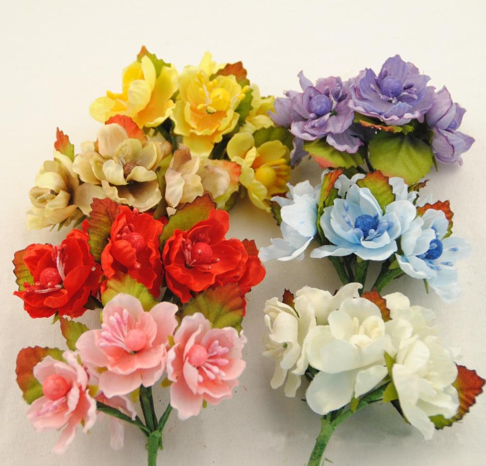 3CM,Small Fabric Roses,Artificial Silk Cherry Blossom Bouquet,Diy Craft Wedding Party Decoration Arrangements,Headbands,garland(China (Mainland))