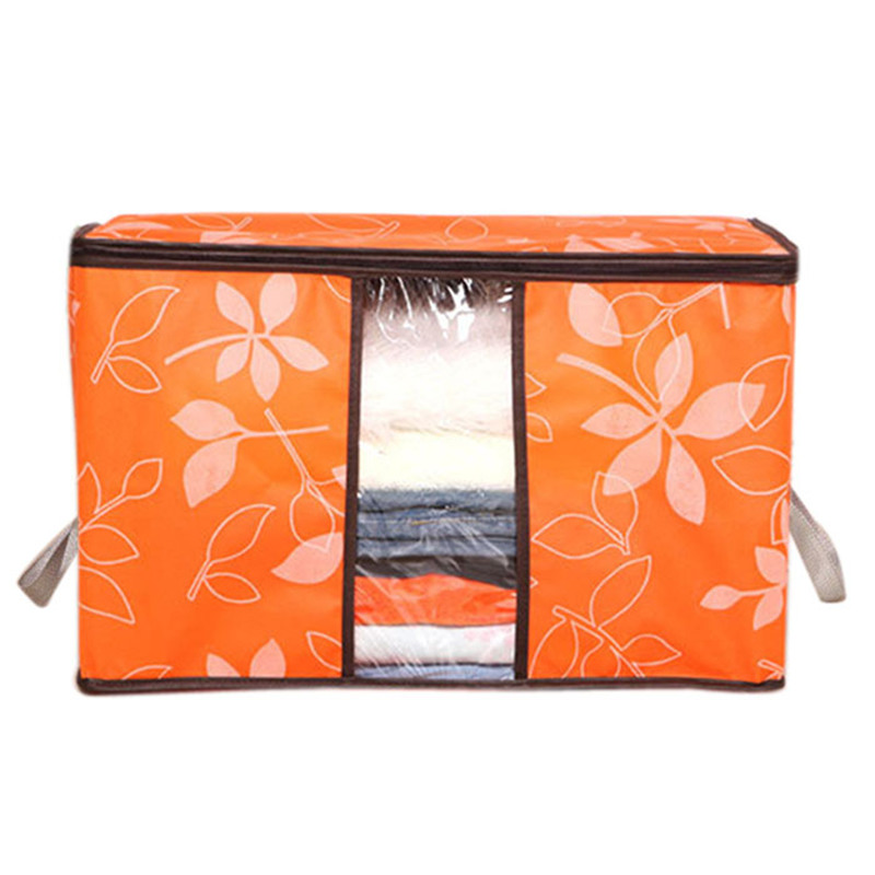 New Storage Organization/Designer Flower Printed Quilt Storage  Bags/See Through