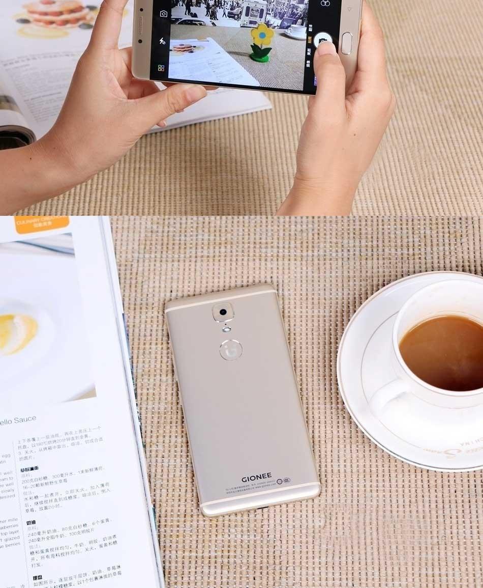 New Original Gionee M6 4G LTE 5.5 inch Octa Core CPU 4GB RAM 64GB ROM Dual SIM 1920*1080px 13MP Fingerprint Mobile Phone