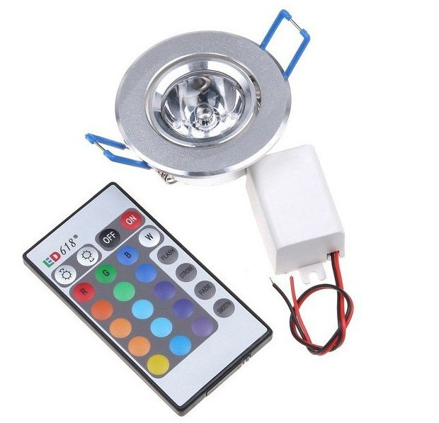 3W RGB led Downlight Ceilinglight downLamp Spot light Remote Control ceiling lamp Lighting(China (Mainland))