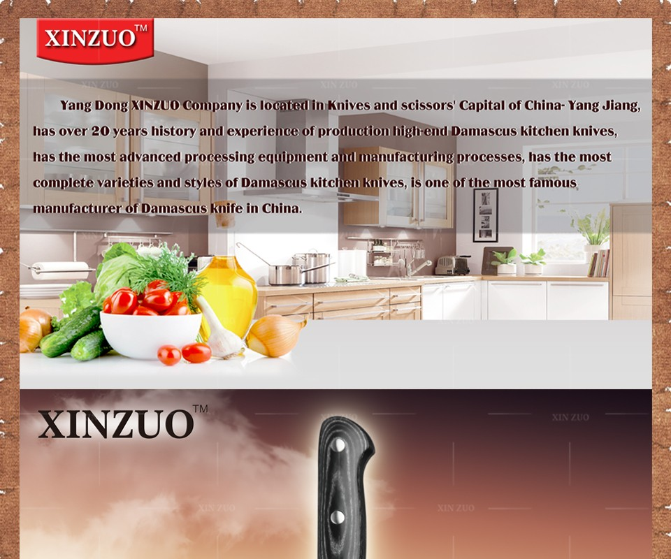 """Buy 8"""" inch xinzuo chef knife 73 layers Damascus kitchen knife with Color wood handle sharp japanese VG10 chef knife free shipping cheap"""