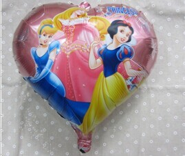 "PT0056 Animated Cartoon PRINCESS Balloon, Girl Lady Birthday Party Balloon, 18.5"" inch, 10pcs/lot, free shipping"