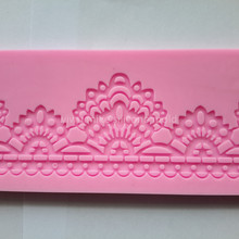 bake tool factory shop, lace design cake silicone mold for cake decorating tool    mk-623(China (Mainland))