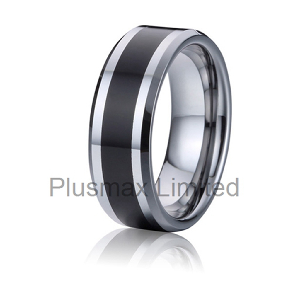 prices in euros men jewellery engagement ring black carbon fiber tungsten carbide rings wholesale bulk rings for men anelli uomo(China (Mainland))