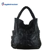 Натуральная кожа женщины сумочка пэчворк овчина женщины наплечная сумка женщины мешок тотализатор