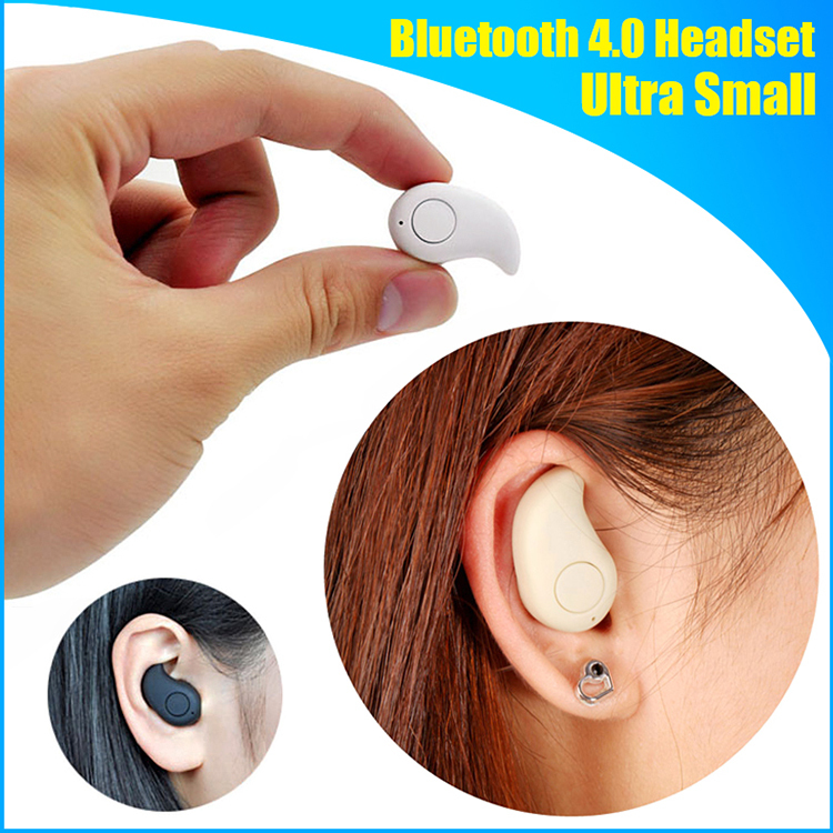 Ultra Smallest Mini Noise Cancelling Wireless Stereo Bluetooth 4.0 Earphone Car Handsfree Headset With Microphone(China (Mainland))