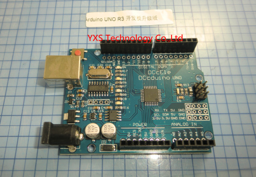 free shipping!!! 10pcs/lot for Arduino UNO R3 development board updated version DCCduino version + free USB cable 328P(China (Mainland))