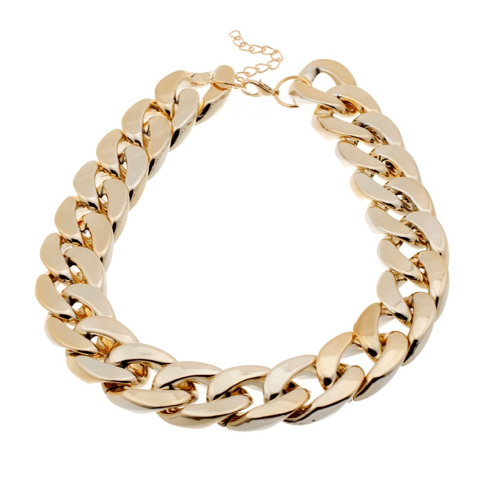 Fashion Necklaces For Women 2014 Christmas Gift CCB Gold Chain Statement Necklaces & Pendants Collares Women Jewelry Accessories(China (Mainland))