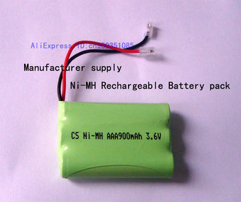 Manufacturer supply Universal interface Ni-MH rechargeable battery pack  AAA 900mAh 3.6V
