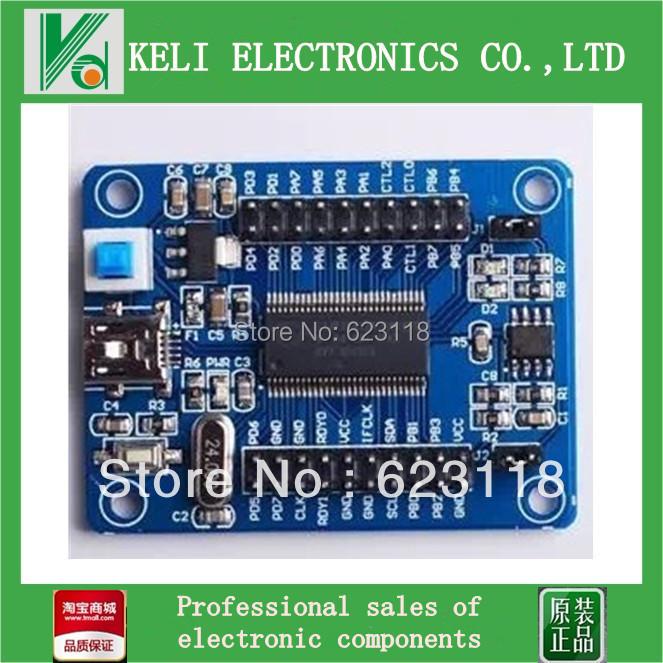 Free Shipping 1PCS/LOT EZ-USB FX2LP CY7C68013A USB Development Board Core Board Logic Analyzer(China (Mainland))
