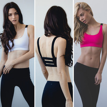 XZ W0268 Multicolors ! Women Padded Top Athletic Vest Gym Fitness Sports Bra Stretch Cotton Seamless Free Shipping popular