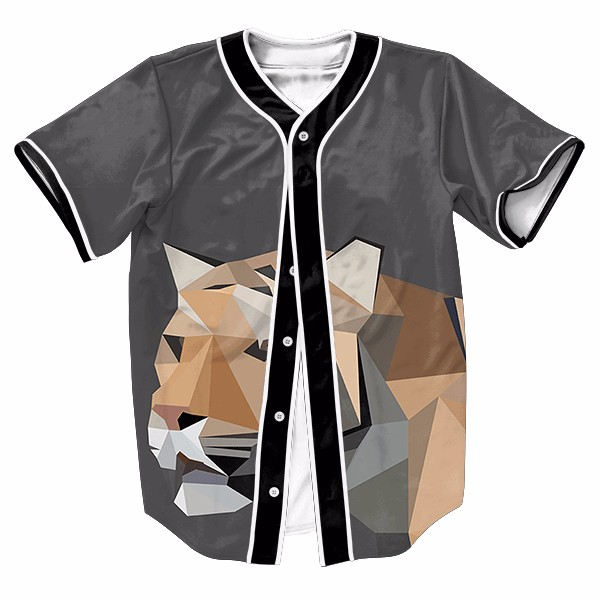 Abstract Tiger Cool Sport Baseball Jerseys New Hip Hop Streetwear US Size Buttons Homme 3D Shirt Brand Clothing(China (Mainland))