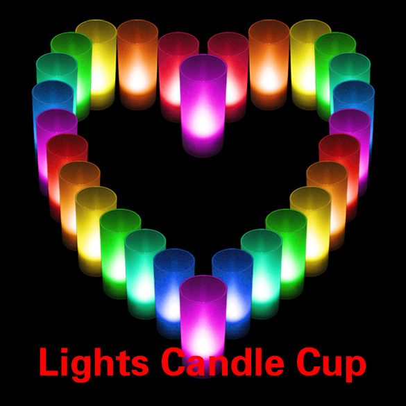 #C LED Candle Color Changing Wedding Party Xmas Decor light Flameless Lights Cup(China (Mainland))