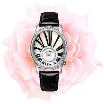 Vintage Elegant Women Oval Case Crystals Dress Watches Quartz Roman Scale Business Wrist watch Real Leather Relojes Brand NW4677(China (Mainland))