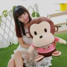 1pc 40-50cm Cartoon Stuffed Toys Yoci Monkey Plush Toy Kids gift kawaii Dolls for Children Soft Toy Cute Anime Doll Stuffed toys