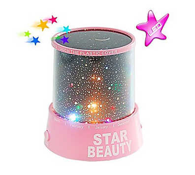 Starry Night Sky Projector Colorful LED Light AC/3xAA New - QiFeng store