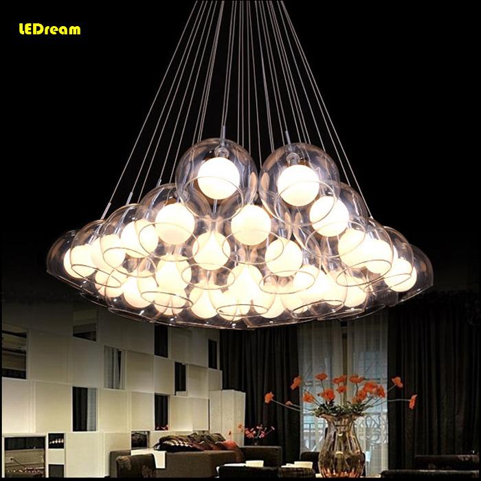 Здесь можно купить  Fashion contracted and contemporary sitting room lights LED glass ball pendant lamp restaurant bedroom bull droplight  Свет и освещение