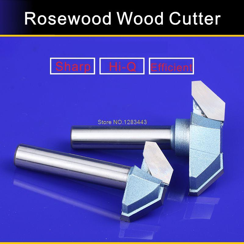 Buy 1/2*66mm Industry Flat Bottom V Shape Trimming Knife Tools,Redwood Furniture Wood Cutter Mill 5759 cheap
