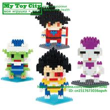 4 Style Dragon Ball Z Toy Building Block Action Figures Son Goku Piccolo Vegeta Frieza Anime Toy Oolong Master Roshi Karrin