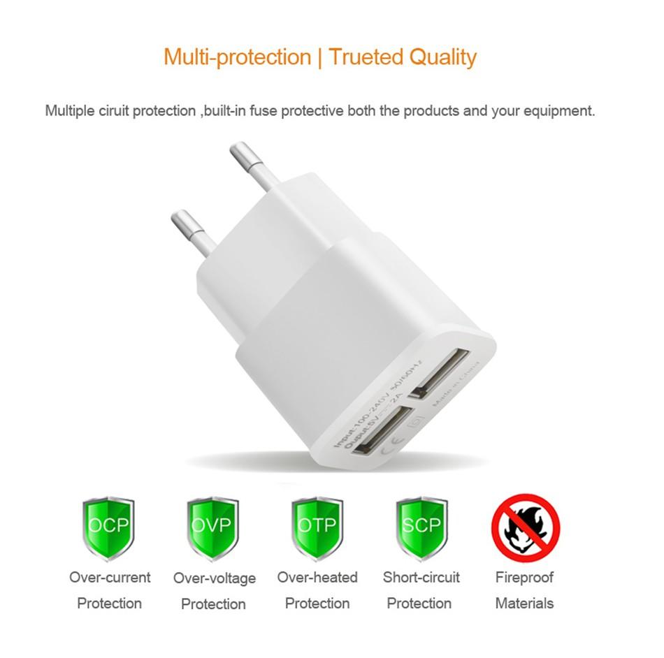 Hot European Union plug 2 port USB charger adapter multi wall smart phone iPhone, iPad Samsung billing data device