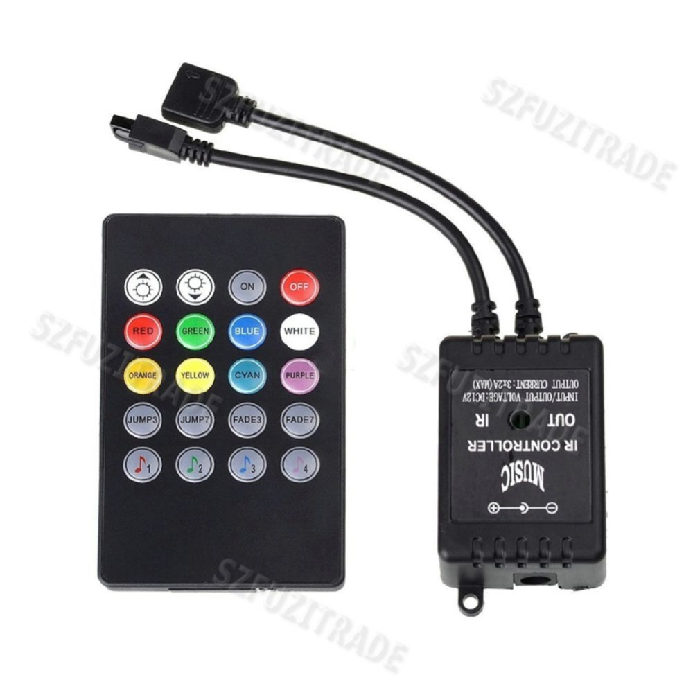 New DC12-24V 20-key Infrared Music LED Controller for 3528 5050 5630 RGB Flexible LED Strip Light -35(China (Mainland))