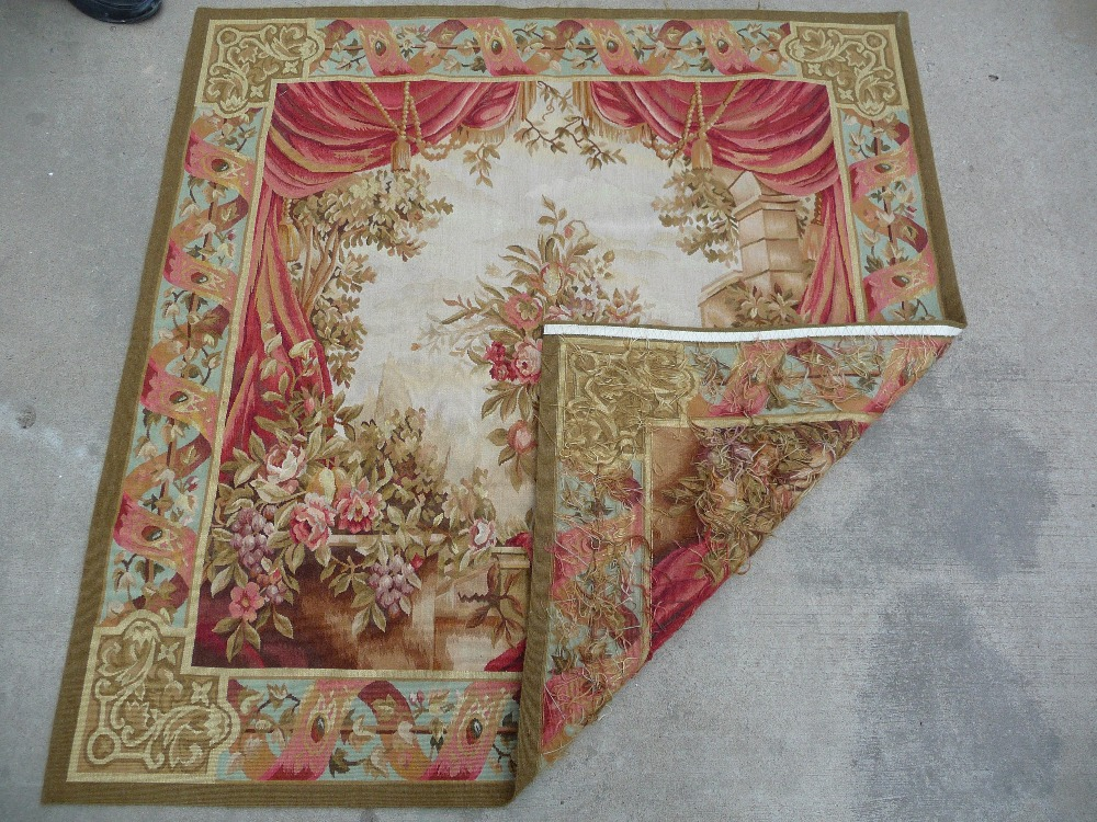 Free Shipping 100% 3.3'X5' Handmade wool aubusson tapestry gobelin carpet, wool tapestry paintings(China (Mainland))