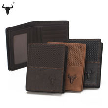 Buy New Cowskin Wallet Vintage Plaid Women Men Genuine Leather Standard Wallets Vertical Style Short Top Leather Credit Card Holder for $11.06 in AliExpress store