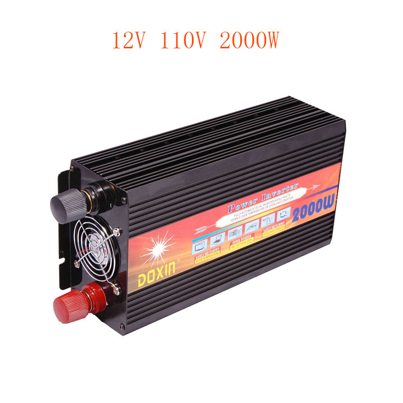 2000W DC 12V to AC 110V Car Modified sine wave Inverter Power Invertor Car dc into electricity equipment Fittings Selection USB(China (Mainland))