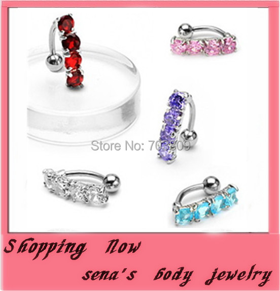 crystal belly ring free shipping(CF033)wholesale 60pcs/lot mix 4color piercing navel ring navel button ring body jewelry<br><br>Aliexpress
