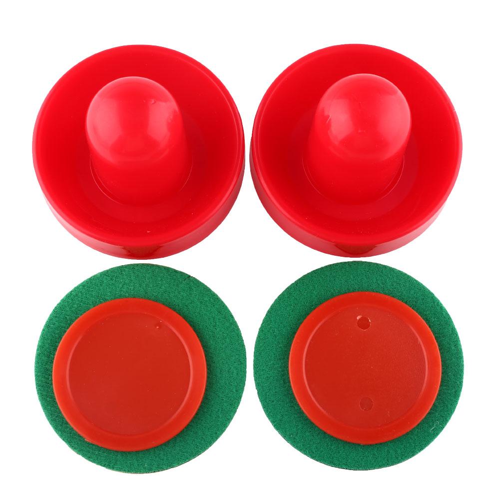 Plastic Air Hockey Pucks Table Handles Paddles Indoor Game air hockey table accessory Free Shipping(China (Mainland))