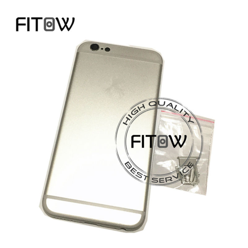 "Fitow Brand 100% A Quality Full Back Battery Cover Metal Back Housing For iphone 6 6G 4.7"" Color Gold /Silver /Gray /Rose Gold(China (Mainland))"